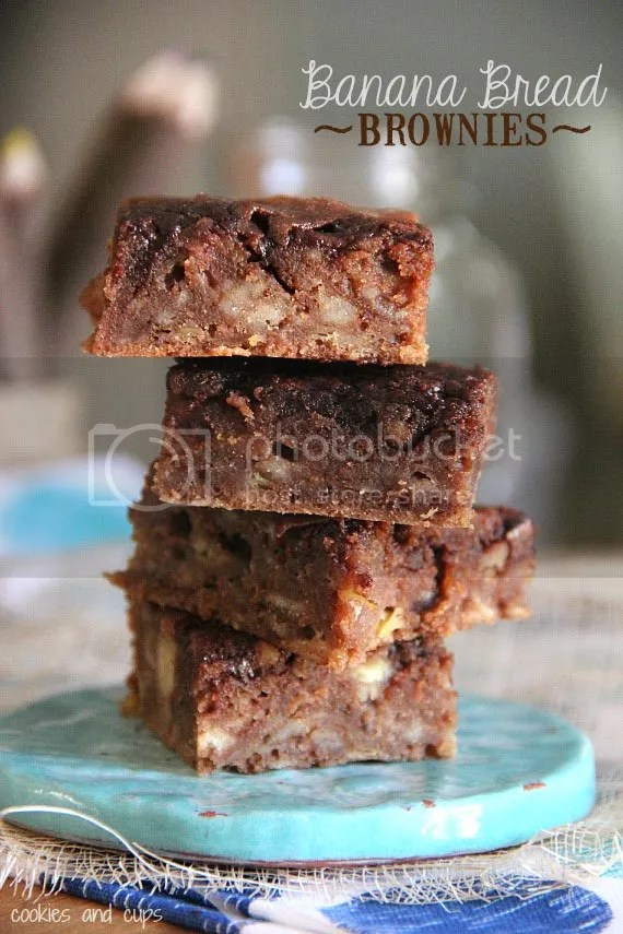 Banana Break Brownies by Cookies & Cups