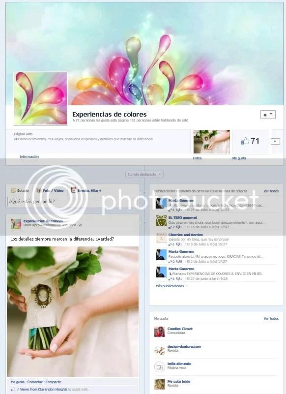 Facebook de Experiencias de Colores, Blog