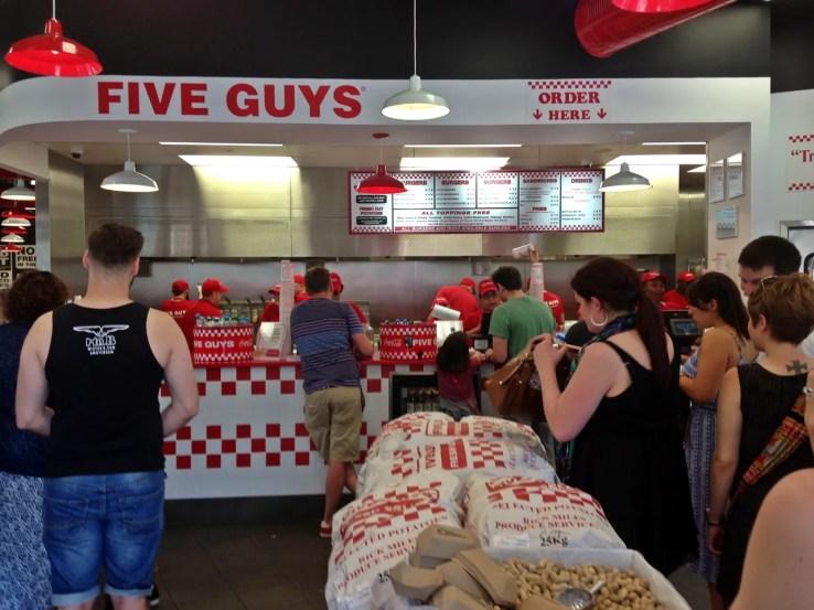 Five Guys Burgers UK