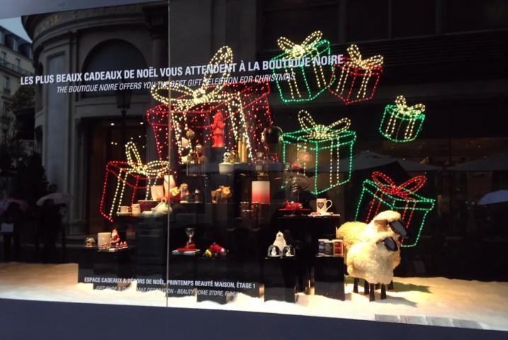 Printemps Paris Christmas Window