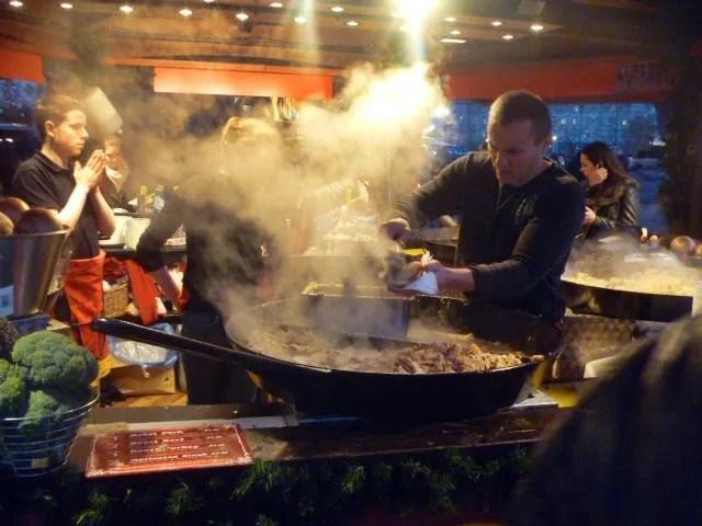 hog roast christmas market
