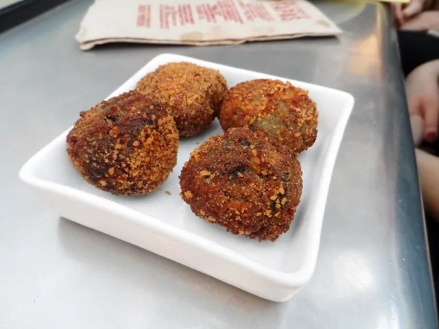 Croquetas with Squid Ink, Prawn and Scallop