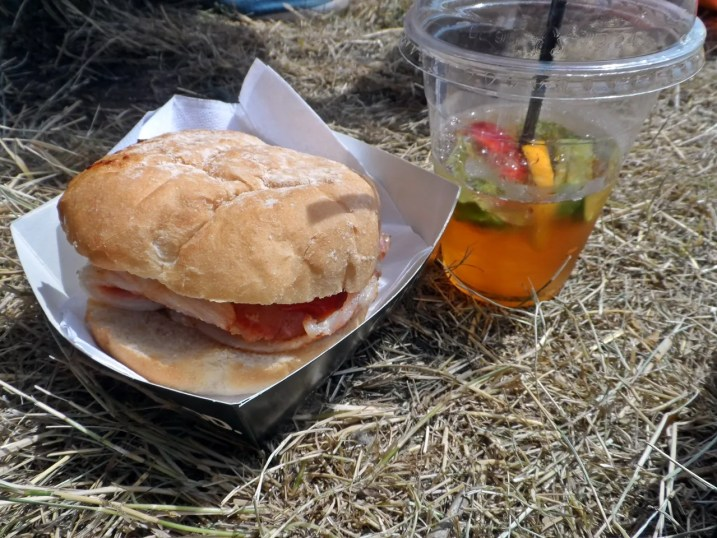 Bacon Roll & Pimms