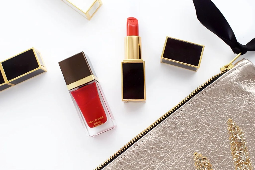 Tom Ford lipstick in wild ginger & nail lacquer in carnal red