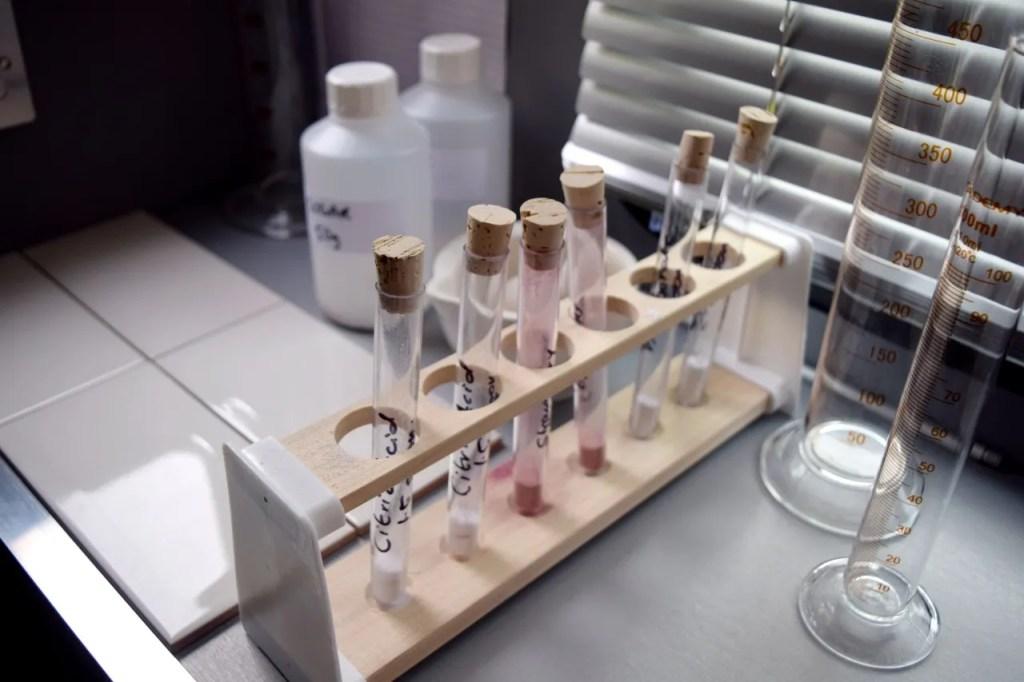 Test tubes inside breaking bad lab pop-up london