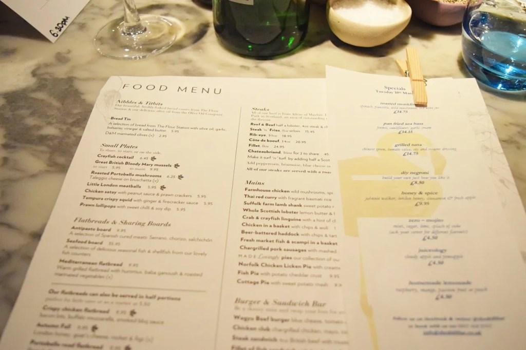 The Drift menu