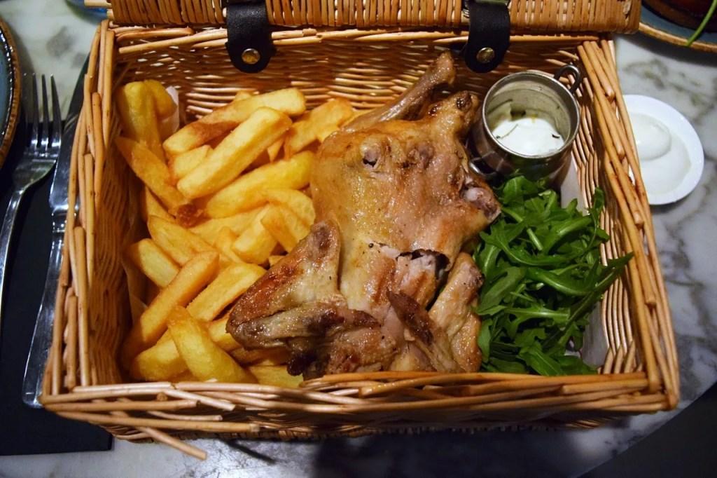 The Drift chicken in a basket