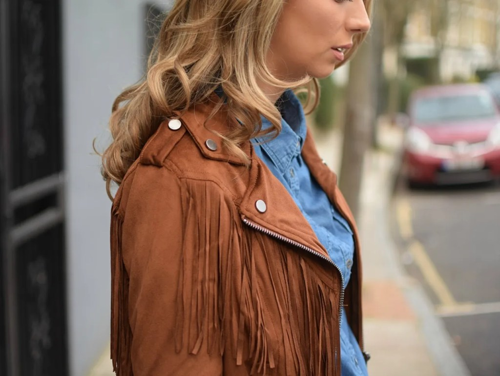 Bershka Fringed Jacket