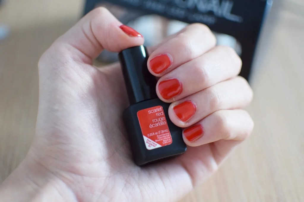 Sensationail Scarlet Red Gel Nails
