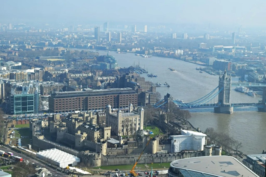 Tower of London view from Sky Garden