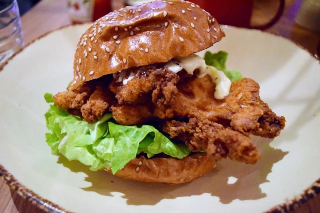 Fried chicken burger | Clockjack Soho | The LDN Diaries