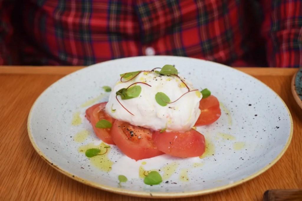 Buffalo Mozzarella, tomato and basil