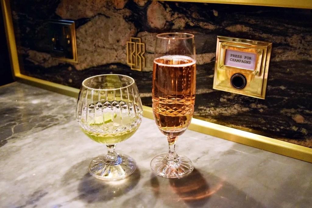 Press for Champagne Button Bob Bob Ricard