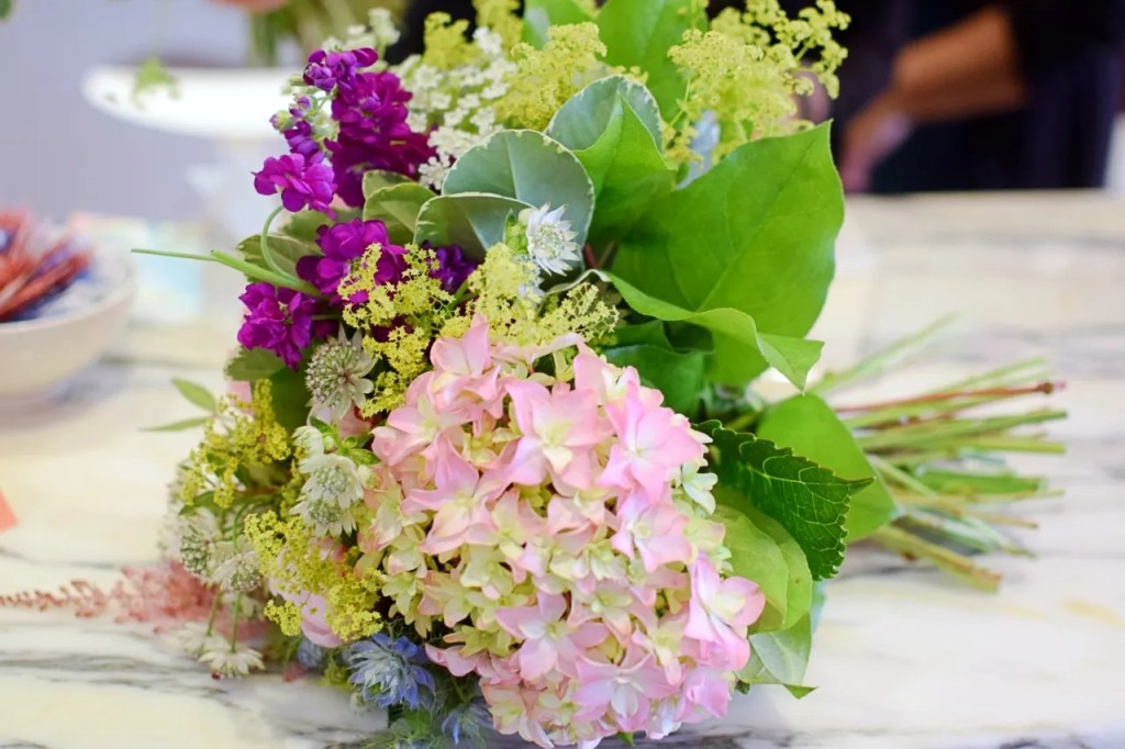 Floral Bouquet pink and purple