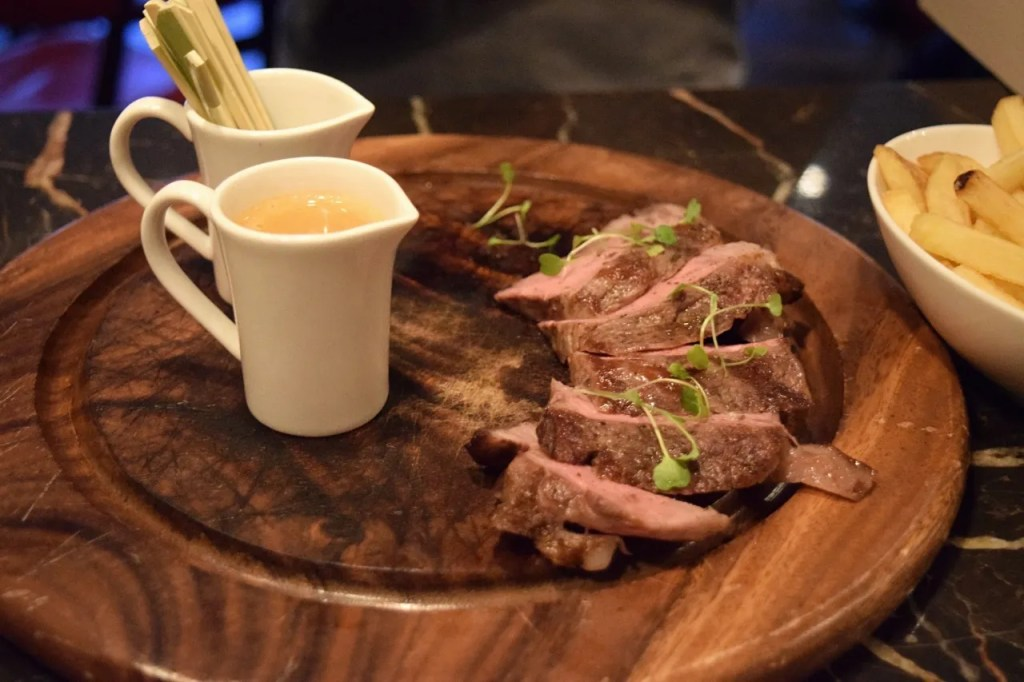 Steak and sauce | Andaz London | The LDN Diaries