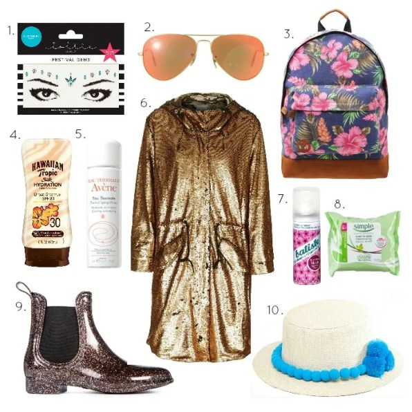10 festival fashion and beauty essentials