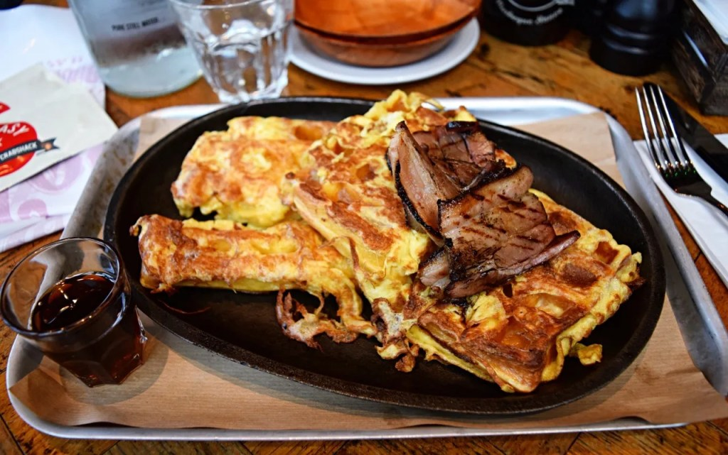 Eggy bread and bacon and maple syrup at Big Easy   London Lifestyle Blog