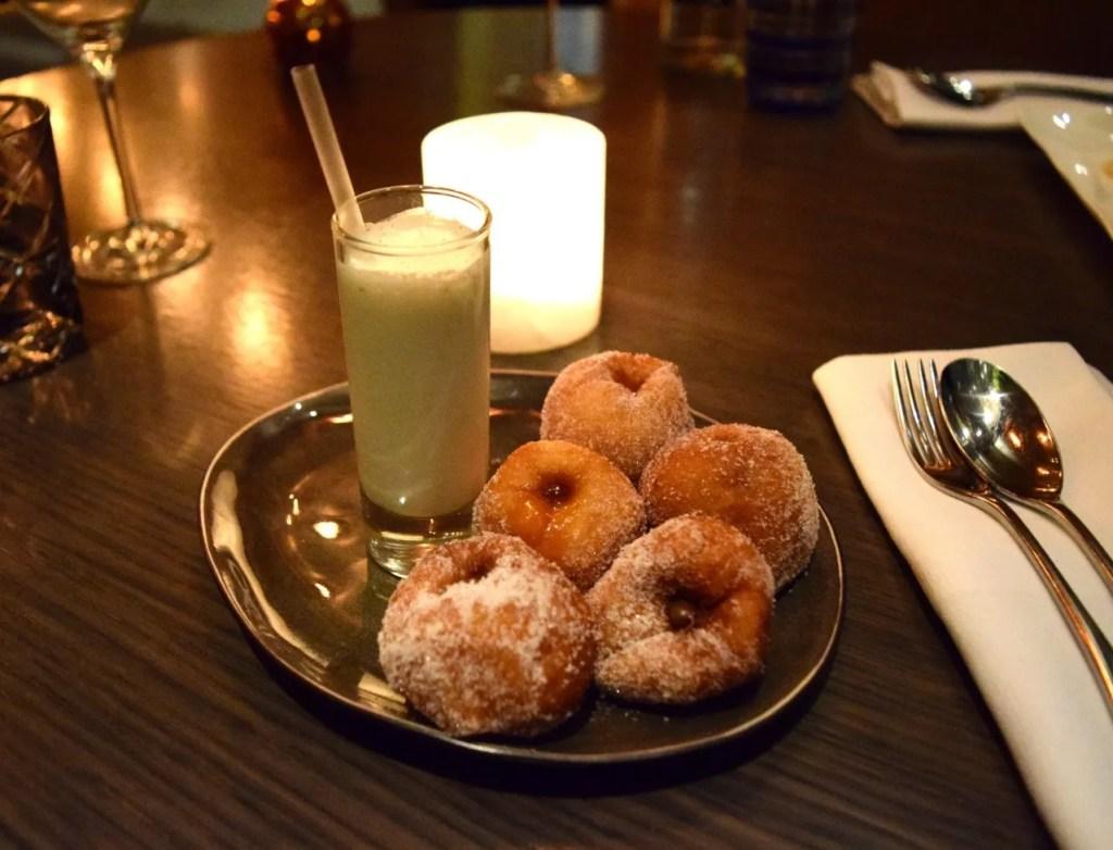 Pont St Salted Caramel & Nutella Doughnuts with Vanilla Milkshake