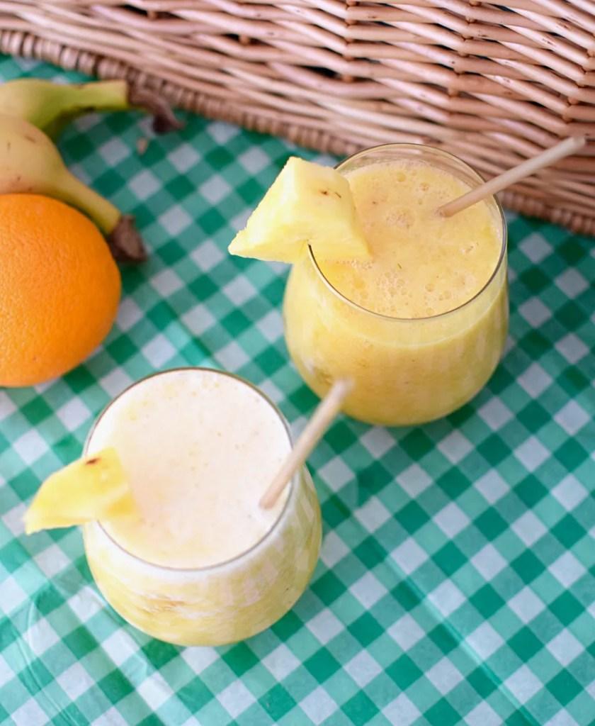 Banana Pina No Colada Mocktail Recipe