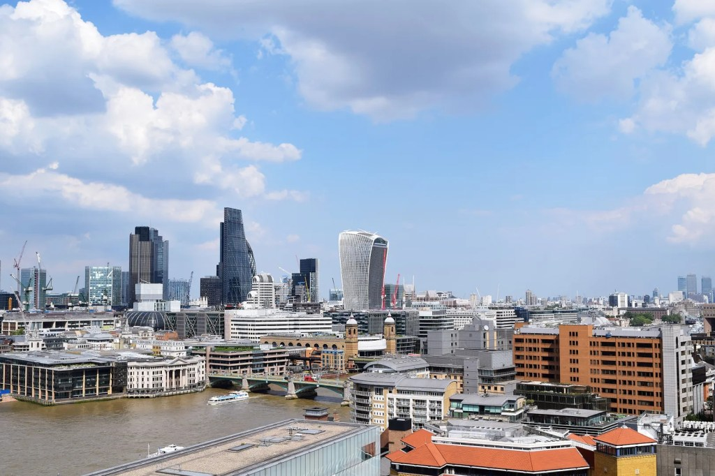 View from the tate modern new building level 10