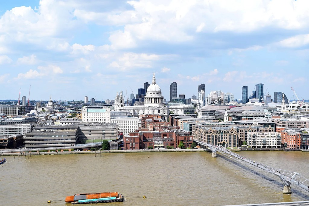 St Pauls view from level 10 tate modern