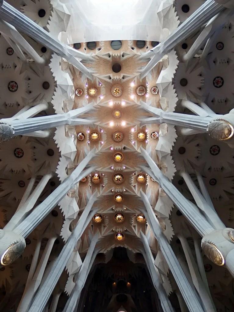 Sagrada Familia Ceiling Barcelona
