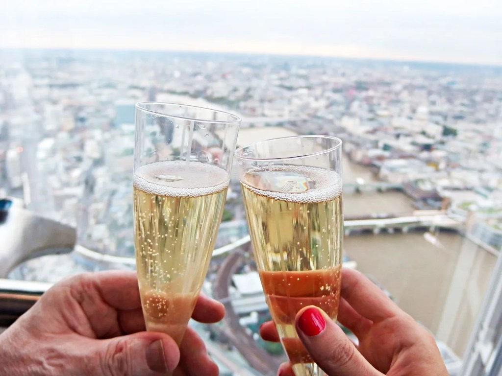 Champagne at The Shard