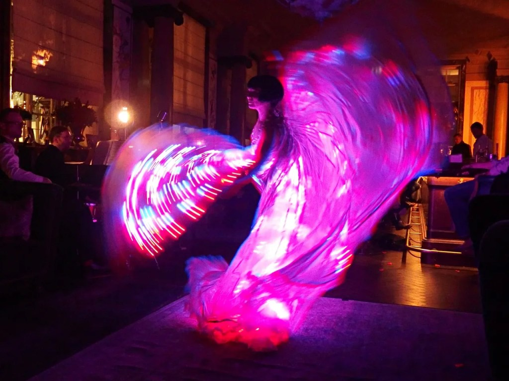 Vicky Butterfly Burlesque Dancing Scarfes Bar Rosewood
