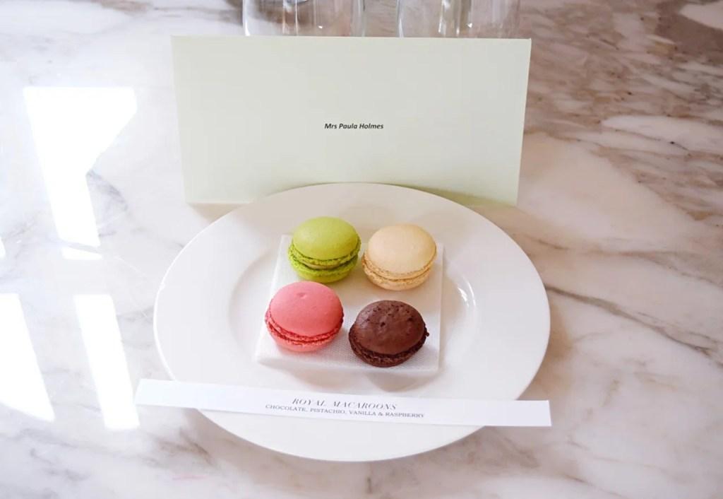 Macaroons welcome at Grand Hotel du Palais Royal Paris