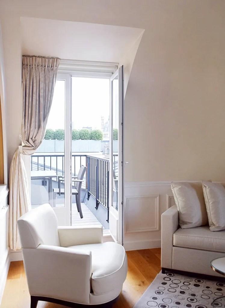 Balcony at Suite Palais Royal Paris
