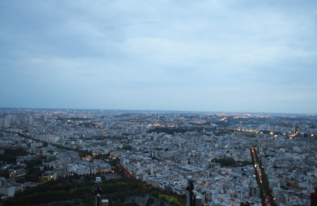 View from Montparnasse Tower Paris