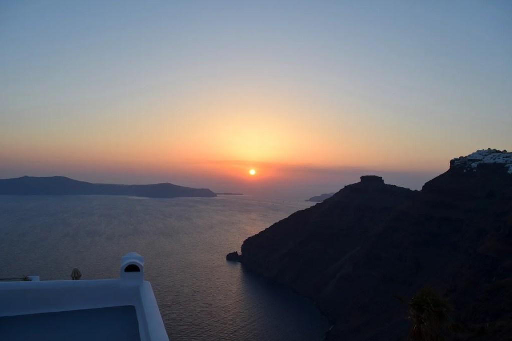 Sunset from Firostefani Santorini