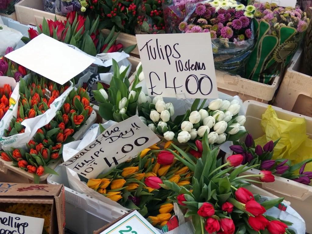 Flowers At Portobello Market