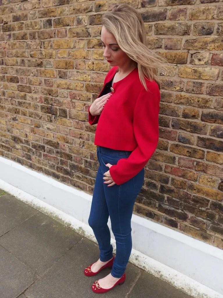 Mero Retro Red Vintage Jacket