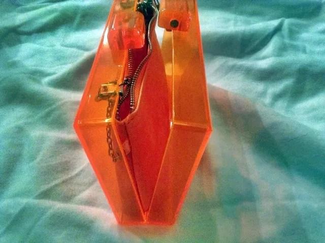 zara neon box bag