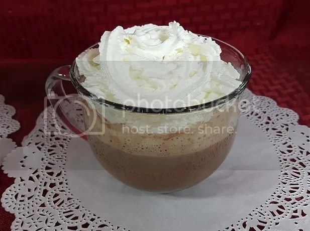 Hazelnut Hot Cocoa with Drizzled Chocolate