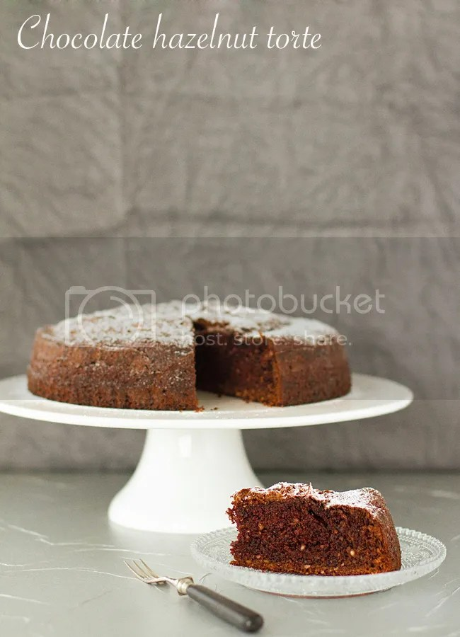 Chocolate hazelnut flourless torte