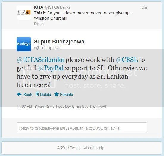 ICTA and CBSL, please bring PayPal full support to Sri Lanka!