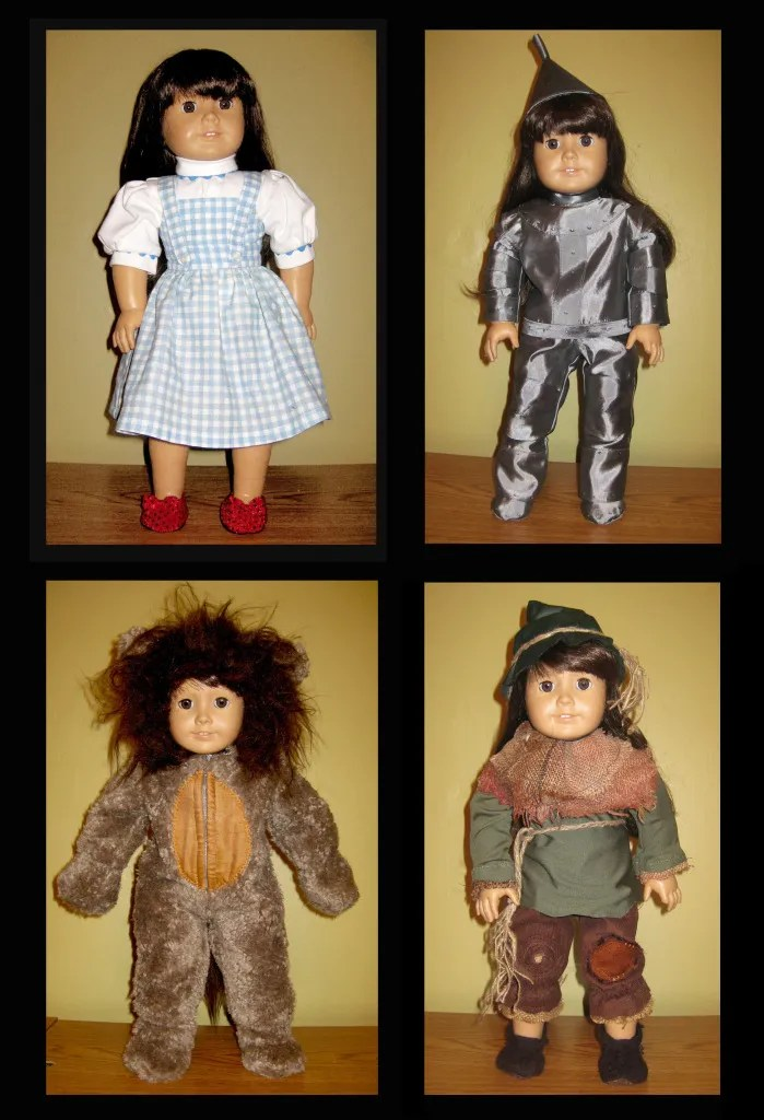 Wizard of Oz costumes for American Girl Dolls