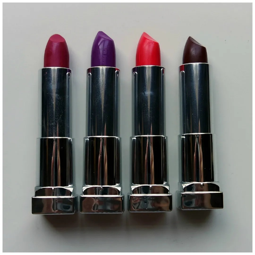 12 Sensational Schemes That Are: Maybelline Color Sensational Matte Lipsticks