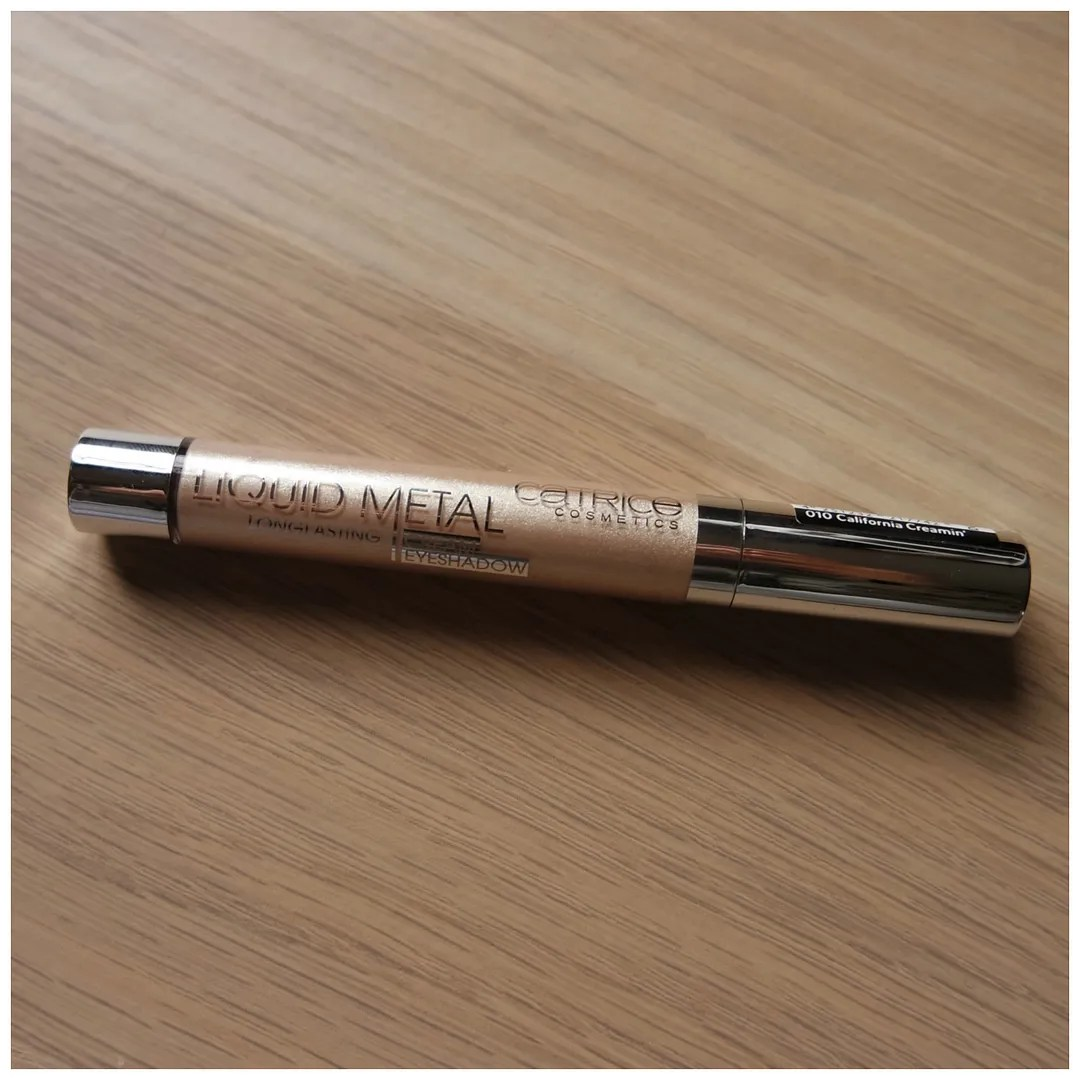catrice liquid metal longlasting cream eyeshadow 010 california creamin'
