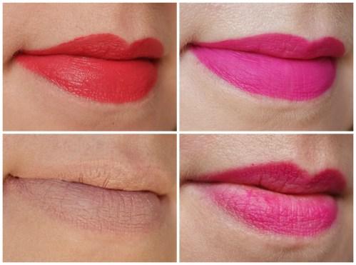 H&M Beauty Whipped Lip Mousse XOXO H&M Beauty Velvet Lip Cream Nudista & Double Take