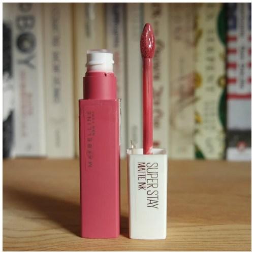 Maybelline lip ink liquid lipstick drugstore review swatch loyalist lover pioneer romantic