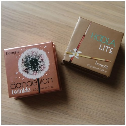 benefit dandelion twinkle hoola lite review swatch bronzer highlighter