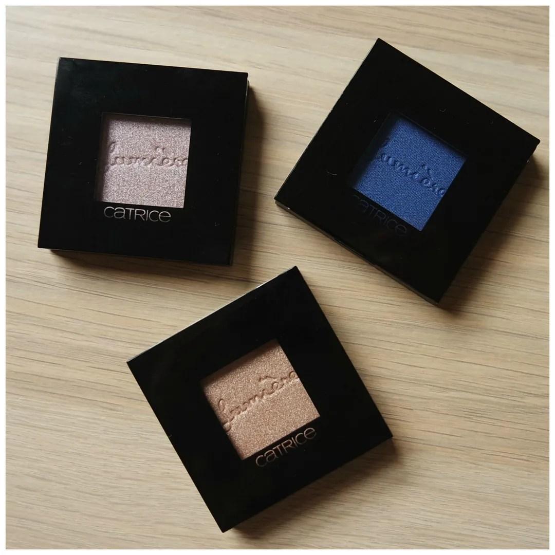 Catrice Prêt à Lumière longlasting eyeshadow 020 prêt-à-perlé, 050 La Vie En Rose, 090 Allez Les Bleus