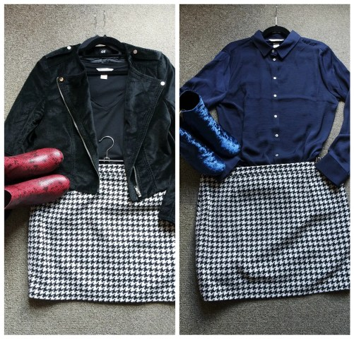 how I wear houndstooth pied-de-poule