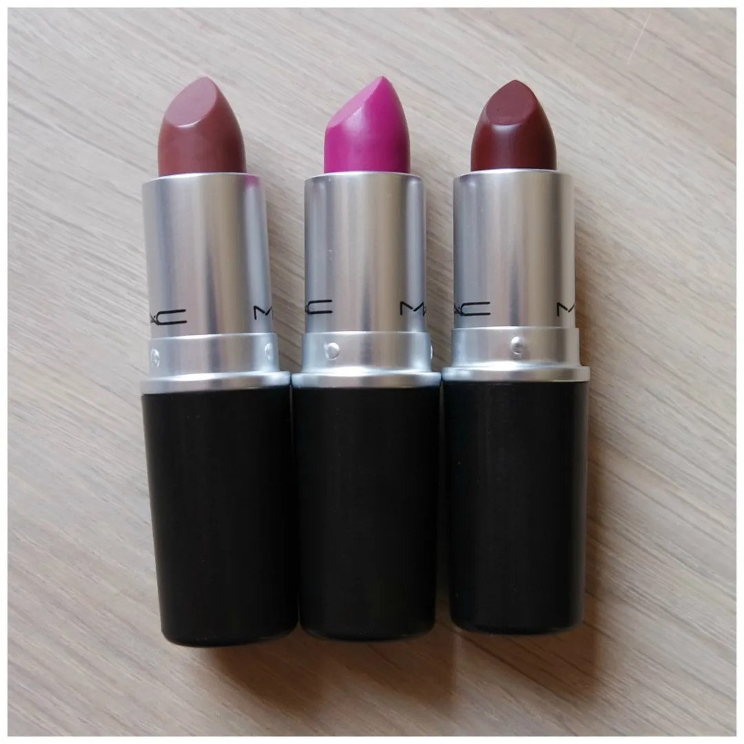 Estremamente MAC Lipsticks: Whirl, Flat Out Fabulous, Sin & Currant – Floating  PZ39