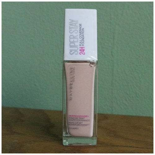 maybelline superstay foundation 20 cameo full coverage review swatch