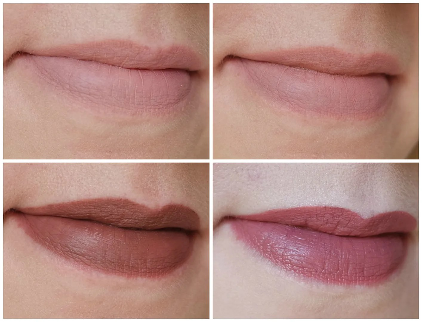 NYX Lip Lingerie Satin Ribbon, Lace Detail, Teddy NYX Liquid Suede Soft Spoken review swatch