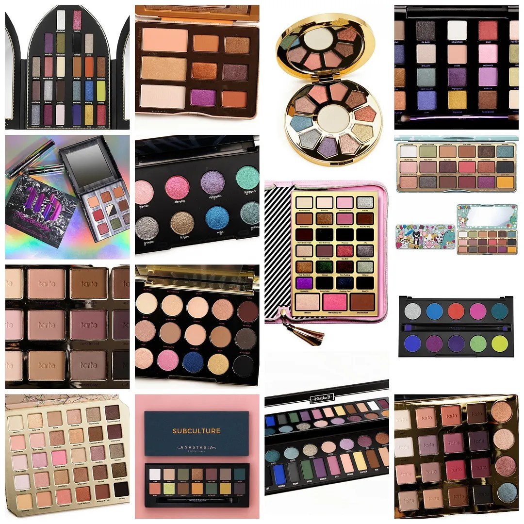 eyeshadow palettes I didn't buy I won't buy anti haul holiday 2017